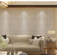 adesivos de parede para escola venda por atacado-Auto-adesivo de pedra padrão 3D adesivos de parede papel de parede diy adesivos de parede painéis para home hotel jardim de infância escola decoração da parede 30 * 60 cm