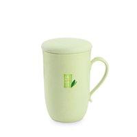 copo de água de bambu venda por atacado-Saúde Natural de Proteção Ambiental De Fibra De Bambu Cinto de Plástico Lidar Com Copo De Água Do Escritório copos de café drinkware Sólida caneca de uso doméstico copo
