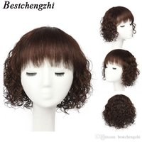 peluca de longitud media marrón oscuro al por mayor-Longitud medio húmedo y pelucas onda ondulado pelucas brasileña pelo humano de Remy Para Mujeres Negro Marrón oscuro Negro natural del envío peluca