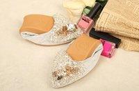 zapatos plegables mujeres al por mayor-Nueva primavera mujer con lentejuelas zapatos planos elegante Rhinestone Lady moda pisos plegables caliente ocasional cristal zapatos de yoga
