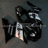 yamaha r1 black cowl achat en gros de-Capot de moto noir 23colors + Botls west pour Yamaha YZF-R1 1998-1999 YZFR1 98 99 Carénage en plastique ABS