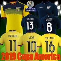 equipo de fútbol de américa al por mayor-nueva camiseta de fútbol nacional de Copa América Ecuador de alta calidad 2019 equipo de fútbol 2020 Ecuador local lejos 19 20 camiseta de fútbol Franco