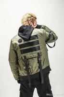 Wholesale winter collar jacket for men resale online – Bomber Mens Winter Jackets Men Harbor Pilots MA1 Jacket Casual Ribbon Spliced Patch Jacket Male Thicker Coats Brand Jacket for Men