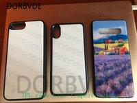 diy case iphone tpu toptan satış-DIY Sublime BlankTempered Cam Durumda Isı Transferi Baskı Yapıştırıcı Bant ile iPhone XS MAX XR XS 7 artı 6 7 8 50 adet / grup