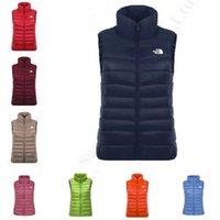spor ceket yelek toptan satış-Kadın NF Kış Down Vest The North Kıyafet Marka Yüz Kolsuz ceketler S-3XL C112606 Isınma Casual Yelek Doğa Sporları Aşağı% 100