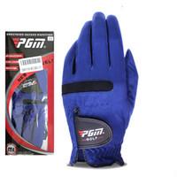 вентиляция тканей оптовых-Blue Golf Перчатки Superfiber Мужской Спорт на открытом воздухе Перчатка на растяжение Ткань Упругая сила Не плотная вентиляция Быстросохнущие Волшебные перчатки ZZA872