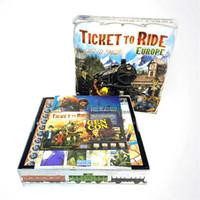 игры для верховой езды оптовых-Игра в карты для взрослых Party Ticket To Ride Europe Настольная игра Новая игра и не требует оригинальной версии