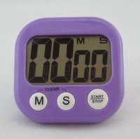 Wholesale tools for kitchen online - LCD Display Digital Alarm Kitchen Timer For Cooking Baking Sports Tools Kitchen Countdown Timer Alarm Clock Colors RRA344