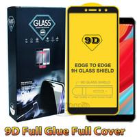 e5 telefones venda por atacado-9D Completa capa de cola protetor de tela do telefone de vidro temperado para iphone xr xs max huwei y5 y6 y6 y9 2019 samsung m20 m30 a90 a10 a30 a40 a50