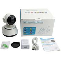 nueva cámara mp4 al por mayor-Nueva tarjeta 8G gratis V380 Cámara IP WiFi Cámara de vigilancia inalámbrica inteligente para el hogar Cámara de seguridad Red Micro SD Red giratoria CCTV IOS PC GPS