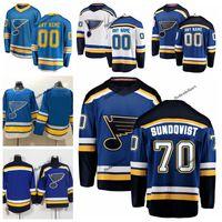 ingrosso pullover blu bambino-2019 New Alternate Baby Blue personalizzata Oskar Sundqvist St. Louis Blues maglie da hockey a buon mercato 70 Oskar Sundqvist blu scuro cucita camicie