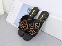 ingrosso sandali da spiaggia tacchi-Pantofole da donna Tacco piatto Infradito Sandali da donna Lettere estive cinghie elastiche Croce a testa quadrata Scivoli da esterno Pantofola da spiaggia