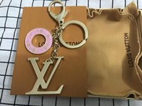ingrosso le catene delle catene chiave del sacchetto di modo donne-2019 più nuovo designer portachiavi moda nuovo marchio portachiavi per le donne borsa auto portachiavi ciondolo gioielli regalo souvenir con scatola per regalo