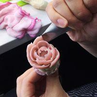 blumenartikel großhandel-DIY Sugarcraft Rose Flower Sahnehäubchen Stand Nagel backen Kuchen Cupcake Dekor Werkzeug Hot Item