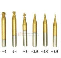 cortadores de máquina duplicadora al por mayor-La mejor calidad 6 unids / lote DEFU final cortador de fresado 1.5MM2MM2.5MM3MM4MM5MM DEFU clave de la máquina taladro clave de corte de la máquina cortadora de fresado