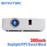Wholesale daylight projector hdmi resale online - BYINTEK Brand Cloud K3 inch Daylight ANSI LCD Video Movie P FUll HD Projector for Home Theater Education Business