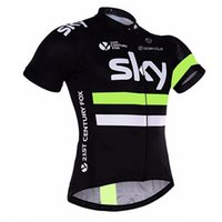 Wholesale spain clothing for sale - Group buy Tour de France SKY New cycling jersey summer short sleeve Breathable spain Racing team Bike Clothing Maillot Ropa Ciclismo Hombre