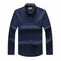 erkekler için ekose polo gömlekleri toptan satış-2019 Sonbahar Ve Kış ekose Büyük boy erkek uzun kollu Gömlek Erkekler İNGILTERE Marka POLO Gömlek Oxford İş Gömlek Küçük At Giysileri S-3XL