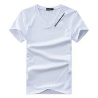 das v-shirt der männer großhandel-Designer V-ausschnitt T-shirts Für Männer Tops Brief Stickerei T-shirt Herrenbekleidung Marke Kurzarm T-shirt Frauen Tops XS-4XL