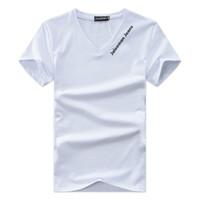camiseta cuello v hombre al por mayor-Diseñador con cuello en v camisetas para los hombres tops carta bordado camiseta para hombre ropa marca manga corta camiseta mujer tops xs-4xl