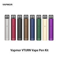 Wholesale liquid vape pen battery for sale - Group buy Vapmor VTURN Vape Pen Kit With mAh Battery Power And ml Liquid Capacity Magnetic Connection Aluminum Alloy Body Original