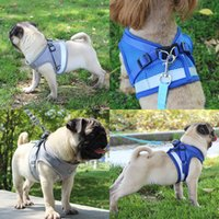 Wholesale led dog collar xl for sale - Group buy Soft Breathable Dog Harness Reflective Pet Vest Rope Small Dog Chest Strap Leash Set Collar Leads Harness XS S M L XL