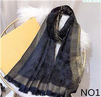 caramelos bufandas rosa al por mayor-Tamaño 180x70cm 6 colores primavera invierno mantón bufanda de marca pañuelos de diseño nuevo de la manera bufanda de seda de hombre para mujer de lujo