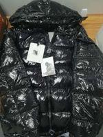casacos de inverno casuais venda por atacado-Mens Designer Jacket Brasão Outono Inverno Grosso preto Brasão de Down Zipper Moda Marca Brasão Tamanho exterior revestimentos de esporte asiático 19ss Inverno