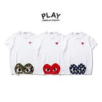 shirts punkte groihandel-Japan Tide Marke Chuanjiu Sommer Welle Punkt Liebe Männer und Frauen beiläufiges kurzärmeliges Paar Rundhals Baumwolle Bao Ling T-Shirt