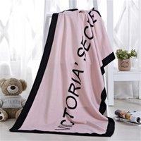 toalha de banho de secagem rápida venda por atacado-Toalha de banho verão Marca VS carta de moda Toalha de praia Rosa Microfibra Sunscreen de secagem Rápida toalha de banho atacado de fábrica