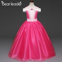 Wholesale fancy ankle length dresses resale online - Bear Leader Sleeping Beauty Princess Dress Costume Cosplay Long Dress Halloween Birthday Kids Fancy Girls Party
