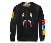 ingrosso skeleton hoodie men xl-111 New Japanese Teenager Hip Hop Skeleton Shark snodato giubbotto di velluto a coste Cardigan Jacket Uomo Donna Wild Cardigan Hoodie Jacket