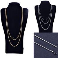 Silber überzog Ketten-Mann-Halskette 16-30 Zoll Frauen fba