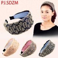 aretes de diamantes de imitación al por mayor-Corea del cordón del Rhinestone Faux Crystal Hairbands para mujeres Floral diadema Broadside Retro Wave Headwear niñas accesorios para el cabello