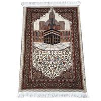 alfombra de bandera americana al por mayor-70 * 110cm delgada islámica oración musulmana Mat Salat Musallah Oración Alfombra Alfombra Tapis Tapete Banheiro islámica Mat Orar
