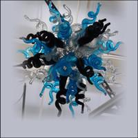 araña decorativa grande al por mayor-Increíbles lámparas de araña de vidrio soplado Chihuly decorativas de alta calidad de cristal de Murano gran lámpara moderna lámparas colgantes de vidrio soplado a mano moderno