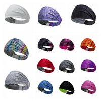 Wholesale sports head bandanas resale online - Breathable Magic Turban Outdoor Headband Fitness Headwear headscarf sport Head band Bandanas Yoga Gym stretchy Sweatband LJJA4019