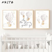 Wholesale watercolor paintings children for sale - Group buy Baby Nursery Wall Art Canvas Print Child Poster Watercolor Woodland Animal Balloon Painting Nordic Kids Room Decoration Picture