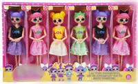 pvc 12 stk großhandel-11 Zoll PVC Kawaii Kinder Spielzeug Anime Action-Figuren Realistische Reborn Puppen Für Mädchen 12 teile / schachtel