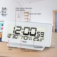 Wholesale indoor thermometer for sale - Group buy Fanju Fj3523w Desk Clock Electronic Digital Table Clock Led Wooden Indoor Thermometer Snooze Function Despertador Bedside Clocks Y19062103