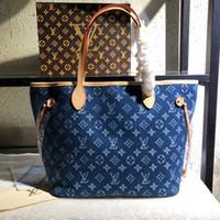 cowboy-umhängetasche groihandel-LL 40156 NEW Cowboy Leinwand Stile Mode Taschen Damen Handtaschen Taschen Frauen Einkaufstasche Rucksack Einzelner Schulterbeutel Einkaufstasche