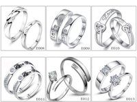Wholesale american diamond adjustable rings for sale - Group buy Fashion Size adjustable New Lovers ring White Diamond Sterling Silver Engagement wedding band ring for women jewelry Gift