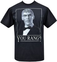 Wholesale men's rings for sale - Mens Black T shirt you Rang Lurch Addams Family Goth Horror Monster S xl