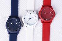 th mode großhandel-TH Uhr drei Farbe NOMOS Casual Quarz Unisexuhr Silikon Gürtel Mode Diamant Stahl Schnalle Freies Verschiffen