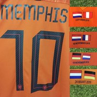 euro spiele großhandel-2019 Euro Spiel Nation League Holland gegen England MEMPHIS VIRGIL Mit Holland gegen Deutschland Frankreich PERU Farewell Sneijder Match Details Patch