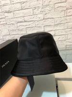 Wholesale men leather hats for sale - Group buy Fashion Designer latest Leather Bucket Hat For Mens Womens Foldable Fishing Caps Black Fisherman Beach Sun Visor Sale Folding Man Bowler Cap