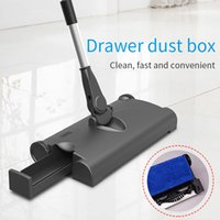 Wholesale tool abs resale online - Hand Push Sweeper Floor Sweeper Clean Sweep Machine MAH ABS USB Charging Mops Cleaning Tool Creative Livingoom Household