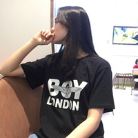 Wholesale urban designer clothes resale online - 19SS Lady Urban Leisure Fashion Womens Designer T Shirts New Trend Sleeve Round Neck Womens Designer Clothing