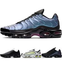 tn entrenadores negros al por mayor-2019 Nuevo diseñador Mercuial TN Plus OG Ultra SE Pack Zapatillas de running para hombre Zapatillas de deporte para hombre Greedy Sports Run Zapatillas de deporte negras y blancas para mujer