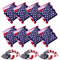 Wholesale headbands cycling for sale - Group buy 2PCS American Flag Printed Bandanas USA Flag Multi Headband Sports Headwear Cycling Face Mask Handkerchiefs for Men Women